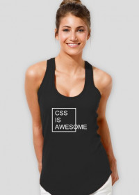 Koszulka damska idealna na prezent dla informatyka/programisty na mikołajki, na urodziny, pod choinkę - CSS is Awesome