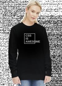 Bluza damska bez kaptura dobra na prezent dla informatyka/programisty pod choinkę, na urodziny albo mikołajki - CSS is Awesome