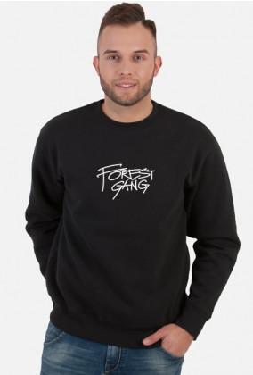Forest Gang/Czarna_Klasyk_Duże_Logo/Biały_Napis