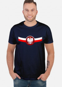 Koszulka FLAGA+ORZEŁ GRANATOWA