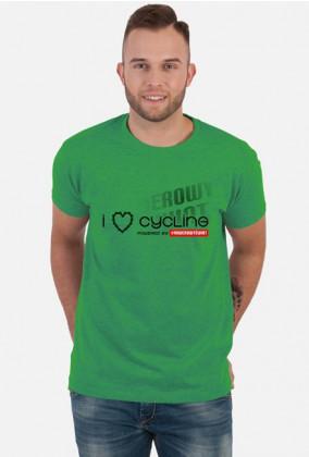 """Koszulka Rowerzysty """"I LOVE CYCLING 2019"""" Jasne Kolory"""