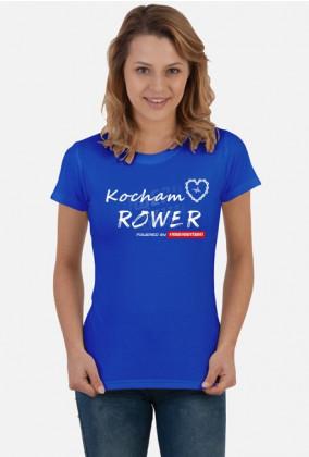 """Koszulka Rowerzystki """"Kocham Rower 2019"""" Ciemne Kolory"""