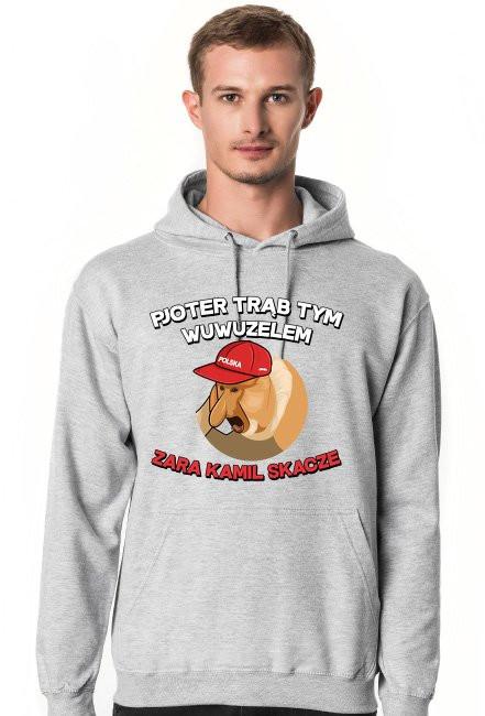 Pjoter trąb tym wuwuzelem - bluza z kapturem
