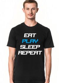 Koszulka Eat Play Sleep Repeat czarna