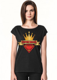 Koszulka Super Mama czarna