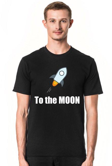 Koszulka to the moon czarna