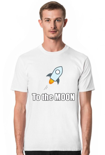 Koszulka to the moon biala