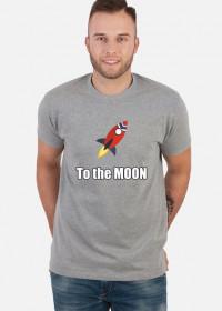 Koszulka to the moon szara
