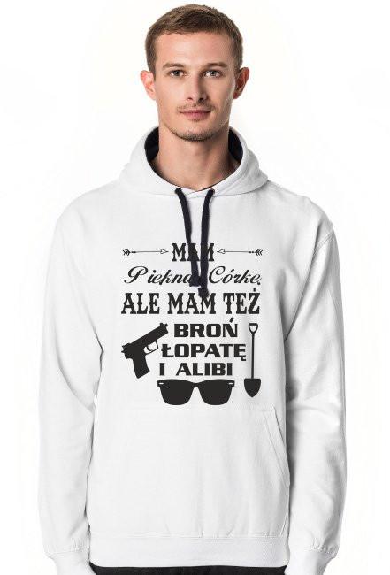 Bluza Mam Piękną Córkę ale mam też broń, łopatę i alibi