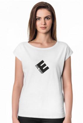 Koszulka damska dobra na prezent dla informatyka/programisty na mikołajki, pod choinkę, na urodziny - Evil Corp