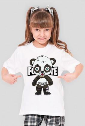 Koszulka dla dziewczynki Panda