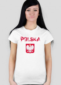 Koszulka POLSKA biała damska 2
