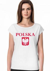 Koszulka POLSKA biała damska vp