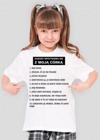 Koszulka dziewczęca Zasady  spotykania się z moją córką