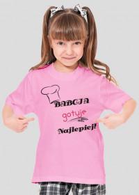 Koszulka dziewczęca Babcia gotuje najlepiej