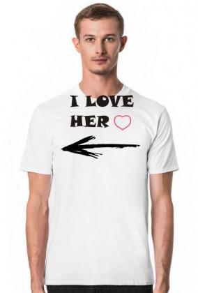 Koszulka męska I love Her