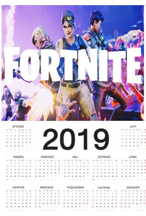 Kalendarz 2019 - Fortnite v1