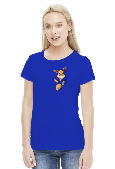 Koszulka pokemon eevee let's go - mały koszulka damska