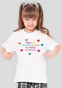 Koszulka Dziewczęca Kiedy Bóg przydzielał Mamy...