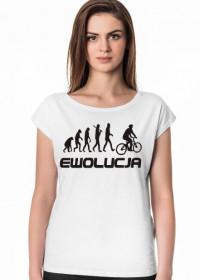 Koszulka damska Ewolucja Rowerzysty