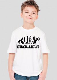 Koszulka chłopięca Ewolucja Motocyklisty