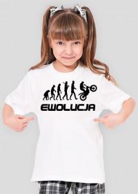 Koszulka Dziewczęca Ewolucja Motocyklisty