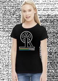 Rowerem Po Śląsku - koszulka damska czarna - KD-C-B1