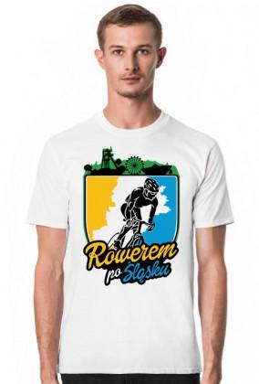 Rowerem Po Śląsku - koszulka męska biała - KM-B-G1