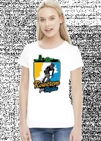 Rowerem Po Śląsku - koszulka damska biała - KD-B-G1