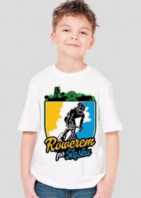 Rowerem Po Śląsku - koszulka dziecięca biała - KDz-B-G1
