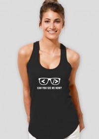Koszulka damska tani i śmieszny prezent dla informatyka programisty na mikołajki, pod choinkę, na urodziny - Can you see me now?