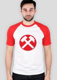 Byle na 6 - koszulka (czerwono-biała) z serii pyrlik i żelazko.