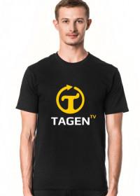 TAGEN.TV - czarna koszulka