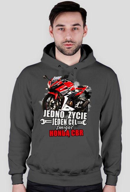 Jedno życie, jeden cel śmigać hondą cbr - bluza motocyklowa