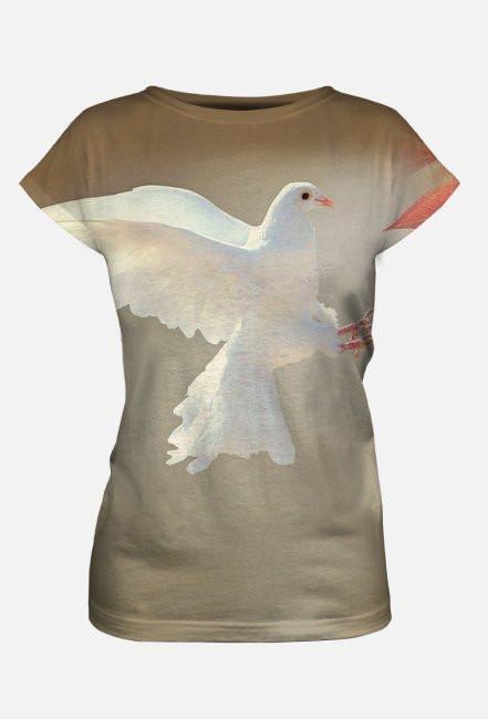 Koszulka damska gołąb