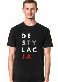 Koszulka męska parodia koszulki konstytucja - Destylacja