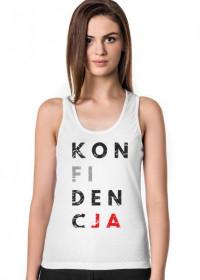 Koszulka damska przeróbka, parodia koszulki konstytucja - Konfidencja