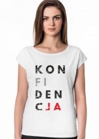 Koszulka damska parodia, przeróbka koszulki konstytucja, destylacja - Konfidencja