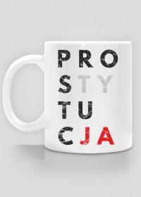 Kubek parodia, przeróbka koszulki destylacja, konfidencja, konstytucja - Prostytucja