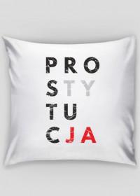 Poduszka parodia koszulki konfidencja, konstytucja, destylacja - Prostytucja
