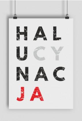 Plakat przeróbka, parodia koszulki konfidencja, konstytucja, destylacja - Halucynacja
