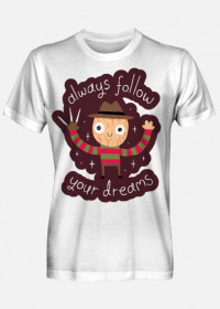 "Męski T-shirt ""Follow Your Dreams"""