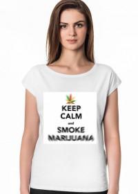 damski T-shirt keep calm