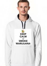 Męska bluza z kapturem keep calm