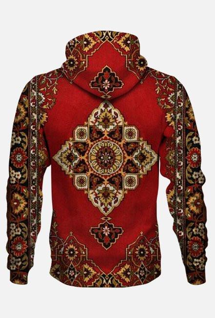 Dywanowa bluza z kapturem Fullprint