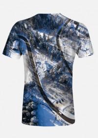 Damska koszulka full print - TATRZAŃSKIE ZAKRĘTASY 2
