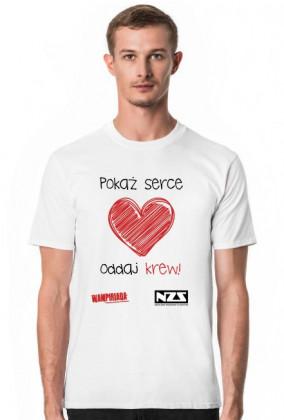Koszulka męska #pokażserceoddajkrew