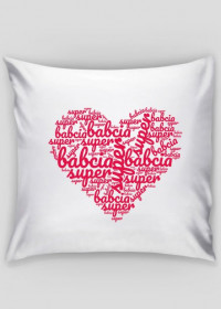 Super babcia - dzień babci poduszka  serce