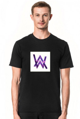 T-shirt Alan Walker White logo