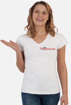 Damska koszulka 2 z nadrukiem NewsDiscoPolo